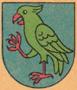 Jméno : Krčín z Jelčan, Jakub - barevný erb - převzato: 'Vild Jaroslav; Hrady, zámky a kulturní památky středních Čech; 1971'
