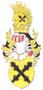 Jméno : Berka z Dubé, Bohuchval - barevný rodový erb - převzato: Chobot Karel; Genealogické a heraldické listy 1; 2000