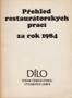 Název : Přehled restaurátorských prací za rok 1984 - vazba