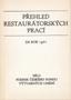 Název : Přehled restaurátorských prací za rok 1981