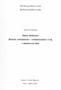 Název : Dubeč (Dubeček) : Historie, urbanisticko - architektonický vývoj a zhodnocení sídla - úvodní strana