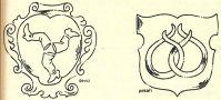 Heslo : znak - ukázka znaků duchovních řádů - kresba akad. arch. Antonín Kryl