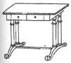 Klíčové slovo : biedermeier - stůl - kresba akad. arch. Antonín Kryl