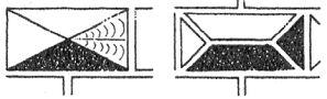 Heslo : diamantování - sgrafito napodobující diamantování - kresba akad. arch. Antonín Kryl