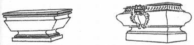 Heslo : tumba - barokní tumby - kresba akad. arch. Antonín Kryl