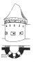 Heslo : bašta - dělová bašta - kresba akad. arch. Antonín Kryl