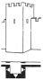 Heslo : bašta - hranolová hradební věž - kresba akad. arch. Antonín Kryl