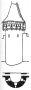 Heslo : bašta - půlválcová hradební věž - kresba akad. arch. Antonín Kryl