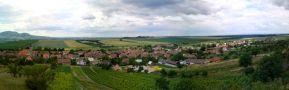Obec : Popice - panoramatický pohled na obec od severu - foto z 15. 6. 2014