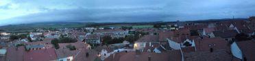 Obec : Mikulov - pohled od zámku na západní část města - foto z 10. 5. 2013