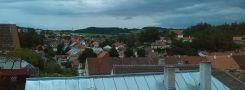 Obec : Brtnice - pohled na východní část obce z terasy zámeckého parku - 21. 6. 2014
