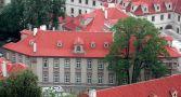 Palác : Kolovratský palác - pohled na palác z Pražského hradu - foto z června 2005
