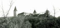 Hrad : Křivoklát - pohled na hrad - foto z r. 1982