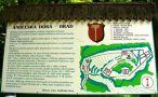 Hrad : Andělská Hora - info tabule pod schody vedoucími ke zřícenině - foto z 15. 6. 2008