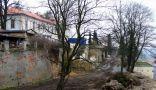 Zámek : Loučeň - pohled na staveniště - foto z 24. 2. 2007