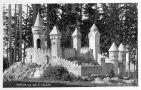 Zámek : Slatiňany - Kočičí hrádek (miniatura gotického hrádku v zámeckém parku) - pohlednice z 1. tř. 20. st. (soukromá sbírka)