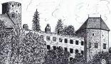 Hrad : Sovinec - pohled na hrad - kresba podle předlohy: Josef Šafránek st.