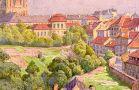 Palác : Šternberský palác - pohled od východu - pohlednice z 20. léta 20. st. (soukromá sbírka)