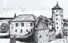 Hrad : Švihov - pohled na hrad - kresba podle předlohy: Josef Šafránek st.