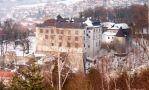 Zámek : Velké Meziříčí - zimní pohled na zámek - foto z III. 2005