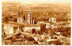 Hrad : Pražský hrad, areál hradu - pohled od Petřína - pohlednice ze 40. let 20. st. (soukromá sbírka)