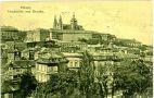 Hrad : Pražský hrad, areál hradu - pohled od Petřína - pohlednice kolem r. 1916 (soukromá sbírka)