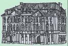 Palác : Goltz-Kinských palác - Palác Goltz-Kinských - kresba perem, Marcela Vichrová (papír, tuš)