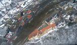 Zámek : Nižbor - letecký pohled na hrad - foto z 12. 3. 2010