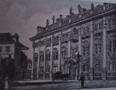 Památka : Nosticův palác - pohled na palác - převzato: Literární atlas Československý I. (kresba J. Koula)