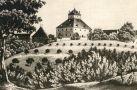 Zámek : Rudolfov - zámek (kresba z 19. st.) - převzato: 'kolektiv, Hrady, zámky a tvrze v Čechách, na Moravě a ve Slezsku V., Praha 1986, s. 170 (foto J. Fiedler)'