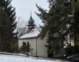 Zámek : Smilkov - pohled na kapličku při zámku od severovýchodu - foto ze 14. 2. 2018
