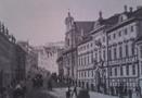 Palác : Thun-Hohenštejnský palác - pohled na palác - převzato: Literární atlas Československý I. (podle Merklasovi rytiny z r. 1845)