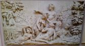 Letohrádek : Dianin chrám - Aktión sledující koupel Artemidy - infotabule (27. 6. 2011)
