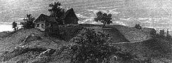 Tvrz : Batňovice - pozůstatky tvrze na konci 19. st. - encyklopedie Wikipedia