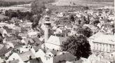 Zámek : Domažlice - pohled na hrad od severu - foto z 80. let 20. st.