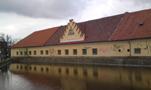 Zámek : Horoměřice - jižní křídlo dvora, pohled od jihovýchodu - foto z 3. 2. 2018