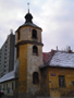 Zámek : Braník - nárožní věž, podled od severozápadu - foto z 23. 1. 2018