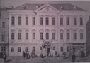 Palác : Sylva-Tarouccovský palác - pohled na palác - převzato: Literární atlas Československý I. (podle dřevorytu neznámého autora)