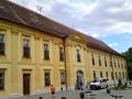 Zámek : Břežany - jižní, vstupní průčelí zámku - foto z 16. 6. 2014