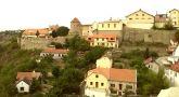 Zámek : Znojmo - pohled na lokalitu, kde stával hrad, od východu - foto z. 3. 9. 2015