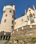 Zámek : Žleby - jihozápadní zámecká věž - foto z 14. 10. 2018