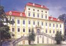 Zámek : Červený Hrádek - východní, parkové průčelí zámku - foto z r. 2016 (neznámý autor)