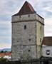Zámek : Divice - dochovaná hranolová věž, pohled od severu - foto z let 2010-2017 (převzato: Marek Bauer)